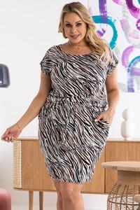 Sukienka KARKO mini w stylu casual z krótkim rękawem