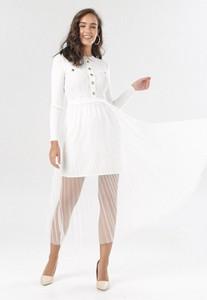 Sukienka born2be prosta w stylu casual z okrągłym dekoltem