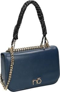 Niebieska torebka NOBO w stylu glamour matowa