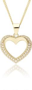 Irbis.style złota zawieszka z cyrkoniami serce