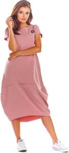 Sukienka Infinite You w stylu casual oversize z okrągłym dekoltem