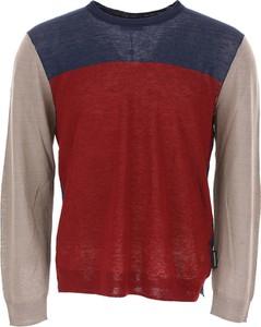 Bordowy sweter Emporio Armani