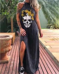 Sukienka Kendallme asymetryczna z okrągłym dekoltem