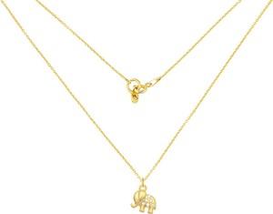 Perlove Złoty Naszyjnik ze Słonikiem