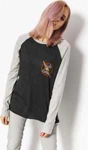Bluzka Element w młodzieżowym stylu z długim rękawem z bawełny