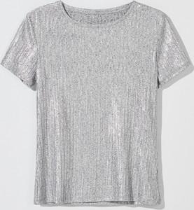 Srebrny t-shirt Mohito z krótkim rękawem