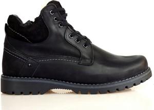 Czarne buty zimowe Komodo z zamszu sznurowane w stylu casual