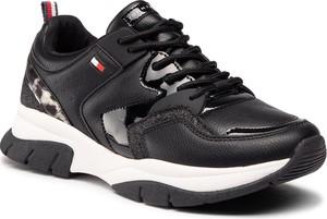 Czarne buty sportowe dziecięce Tommy Hilfiger sznurowane