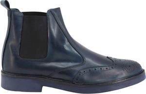 Granatowe buty zimowe Sb 3012