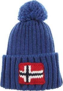Granatowa czapka Napapijri z dzianiny w stylu casual