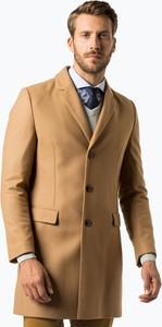 Brązowy płaszcz męski Hugo