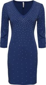 Sukienka bonprix BODYFLIRT boutique z dekoltem w kształcie litery v w stylu casual