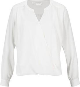 Bluzka bonprix z długim rękawem z dekoltem w kształcie litery v