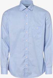 Niebieska koszula Olymp Casual Modern Fit z klasycznym kołnierzykiem z bawełny w stylu casual