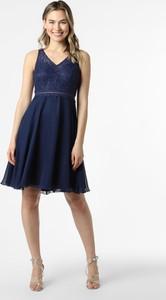 Niebieska sukienka SUDDENLY Princess z dekoltem w kształcie litery v mini na ramiączkach