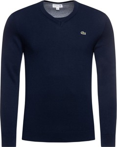 Granatowy sweter Lacoste