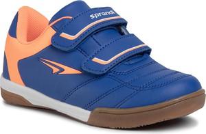 Niebieskie buty sportowe dziecięce Sprandi na rzepy