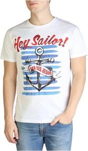 T-shirt Yes Zee w młodzieżowym stylu z nadrukiem