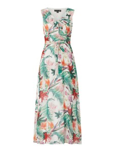 Sukienka Smashed Lemon bez rękawów z dekoltem w kształcie litery v maxi