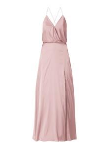 Różowa sukienka Unique na ramiączkach z dekoltem w kształcie litery v