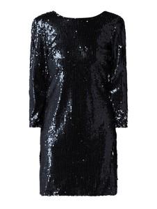 Czarna sukienka YAS z długim rękawem prosta