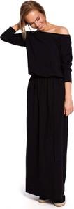 Czarna sukienka MOE maxi