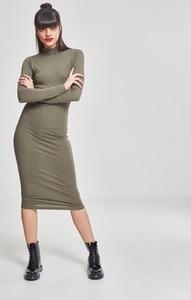 Zielona sukienka Urban Classics z długim rękawem