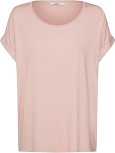 Różowa bluzka Only z dżerseju z krótkim rękawem w stylu casual