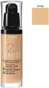 Bourjois, 123 Perfect Foundation, Podkład ujednolicający, nr 54 Beige, 30 ml