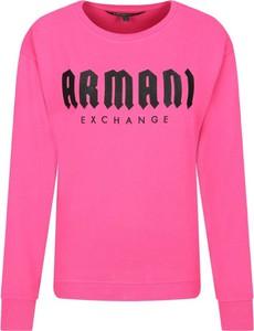 Różowa bluza Armani Jeans krótka
