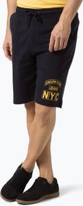 Granatowe spodnie sportowe Calvin Klein z dresówki