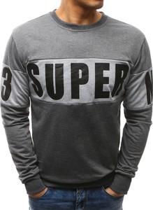 Dstreet bluza męska z nadrukiem antracytowa (bx3461)