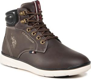 Brązowe buty zimowe U.S. Polo