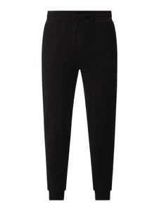 Czarne spodnie Guess Activewear z bawełny