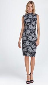 Sukienka Colett bez rękawów midi z okrągłym dekoltem