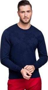Czarny sweter Giacomo Conti w stylu casual z bawełny