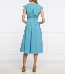 Niebieska sukienka Marella z okrągłym dekoltem