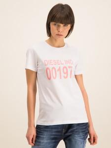 T-shirt Diesel z krótkim rękawem z okrągłym dekoltem w młodzieżowym stylu