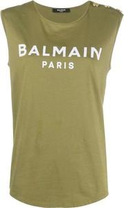 Zielona bluzka Balmain z bawełny