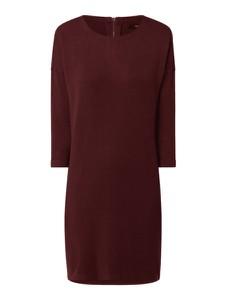 Czerwona sukienka Vero Moda z okrągłym dekoltem z długim rękawem