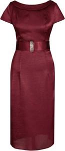 Sukienka Fokus midi w stylu klasycznym dopasowana