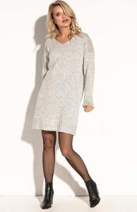Sukienka Fobya w stylu casual z wełny midi