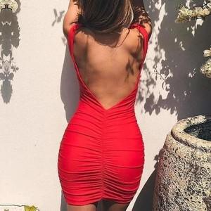 Sukienka Miandmolly z długim rękawem z odkrytymi ramionami mini