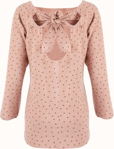 Różowy sweter Byinsomnia w stylu casual