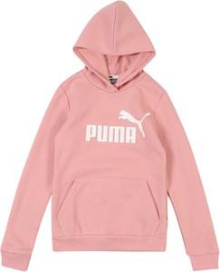 Różowa bluzka dziecięca Puma z długim rękawem