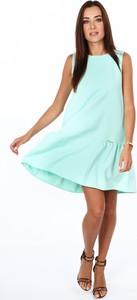Zielona sukienka Fasardi oversize bez rękawów