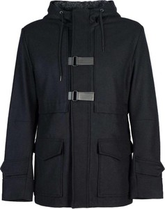 Czarny płaszcz męski Antony Morato z tkaniny