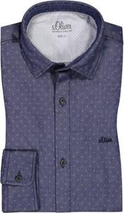 Niebieska koszula S.Oliver z bawełny