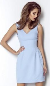 Niebieska sukienka Wow Fashion bez rękawów mini