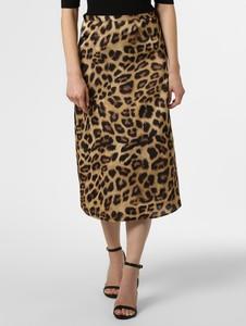 Brązowa spódnica Marie Lund w stylu casual z satyny